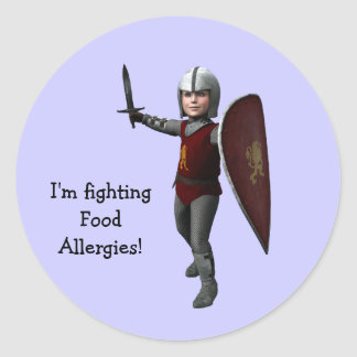 I'm fighting Food Allergies! Classic Round Sticker