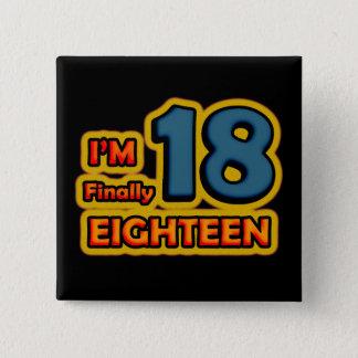 I'm Finally 18 Macaron Carré 5 Cm