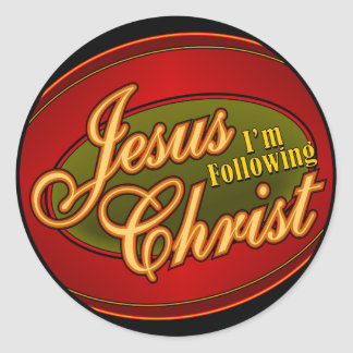 I'm Following Jesus Christ Round Sticker