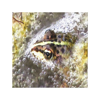 I'm Forever Blowing Bubbles Cute Frog Canvas Print