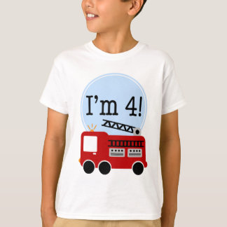 I'm Four Red Fire Truck T-Shirt