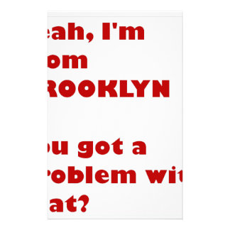 I'm from Brooklyn Stationery