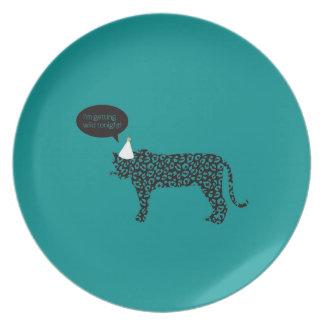 I'm getting Wild tonight! Melamine Plate