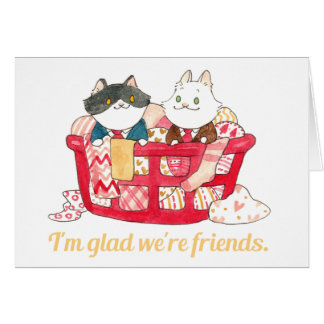 I'm glad we're friends valentine card