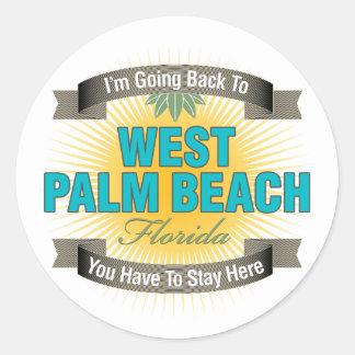 I'm Going Back To (West Palm Beach) Round Sticker