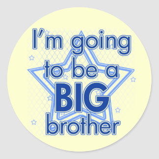 I'm going to be a Big Brother Blue Stickers