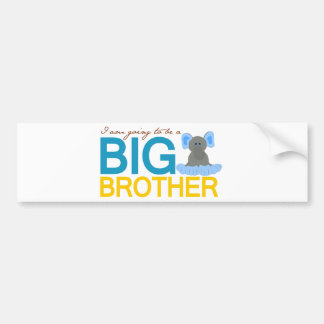 I'm Going to be a Big Brother Elephant Bumper Sticker