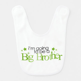 I'm Going to be a Big Brother {green} Bibs