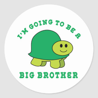 I'm Going To Be A Big Brother Round Sticker