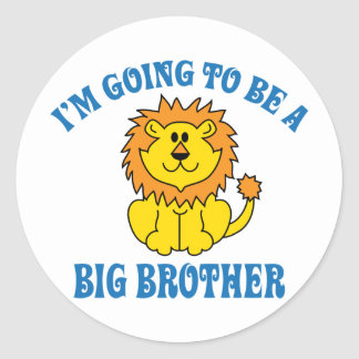 I'm Going To Be A Big Brother Round Stickers