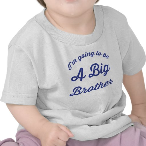 I'm going to be a Big Brother T Shirt in White