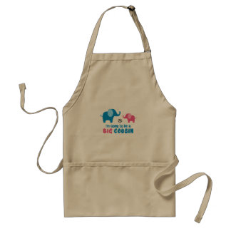 I'm Going To Be a Big Cousin Elephant Standard Apron