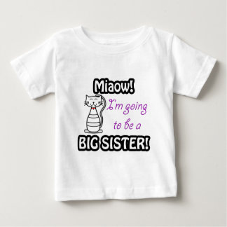 I'm going to be a big sister cat t-shirt