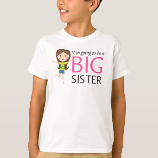 Im going to be a big sister happy cartoon girl T-Shirt