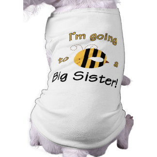 I'm going to be a big sister! pet tshirt