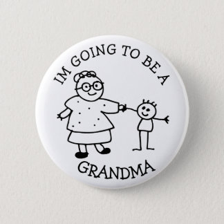 Im going to be a Grandma Announcement Button