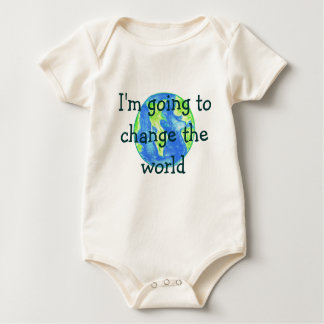 I'm going to change the world baby bodysuit