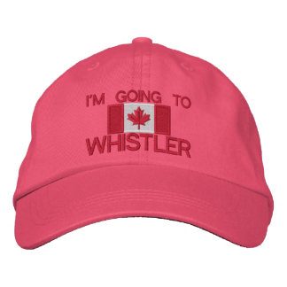 I'm Going to Whistler with Canada Flag Embroidered Hat