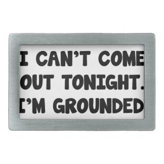 I'm Grounded Rectangular Belt Buckle