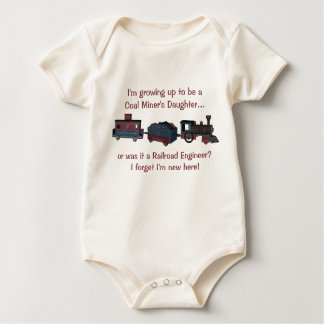 Im growing up to be a coal miners daughter..- baby baby bodysuit
