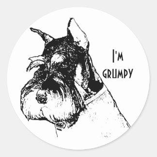 I'm grumpy classic round sticker