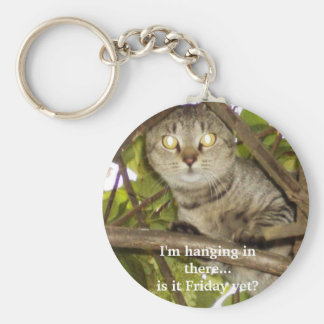 I'm hanging in there...is it Friday yet? Keychain