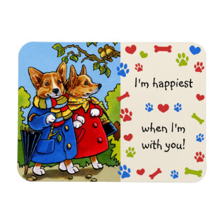 I'm happiest...when I'm with you CORGI Magnet