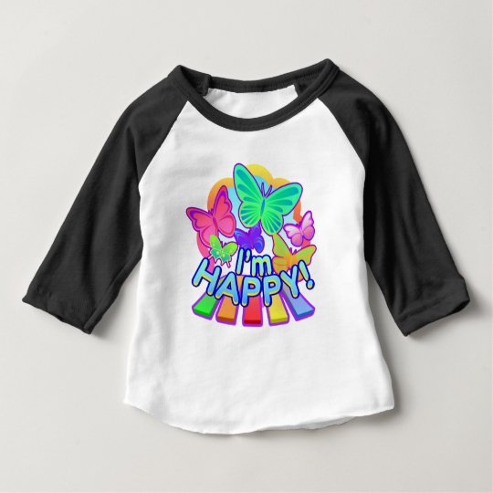 I'm Happy! baby Raglan T-shirt
