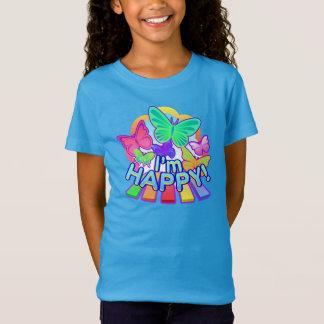 I'm Happy! Girls cobalt T-shirt