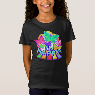 I'm Happy! Girls dark T-shirt