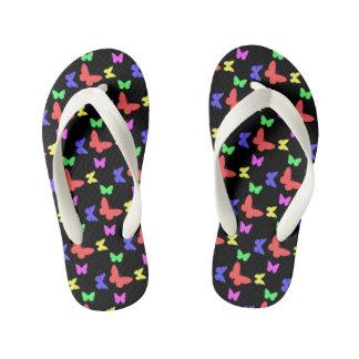 I'm Happy! kids dark butterfly Flip Flops