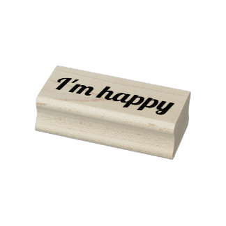I'm happy rubber stamp, happy stamp, cardmaking rubber stamp