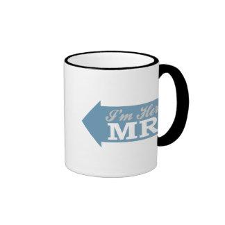 I'm Her Mr. (Blue Arrow) Ringer Coffee Mug
