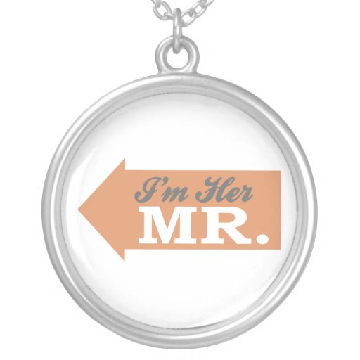 I'm Her Mr. (Orange Arrow) Necklace