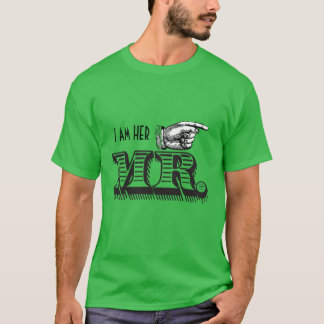 I'm Her Mr. Retro Pointing Hand Grooms T-shirt