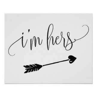 I'm Hers Wedding Sign