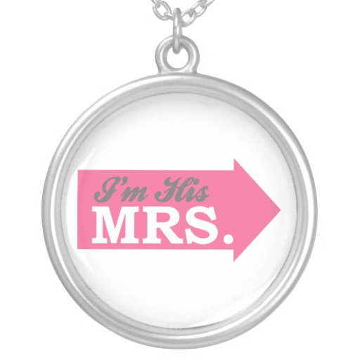 I'm His Mrs. (Hot Pink Arrow) Necklace