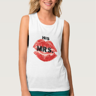 I'm His Mrs. red Lips Brides T-shirt