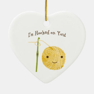 I'm Hooked on You! Ceramic Ornament