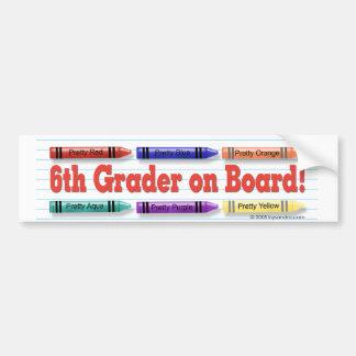I'm in 6th Grade! Bumper Sticker