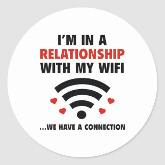 I'm In A Relationship Classic Round Sticker
