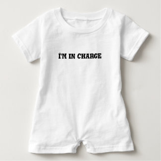 I'm In Charge Text Baby Romper