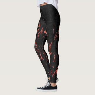 I'm in fire, sparkling campfire flames pattern leggings