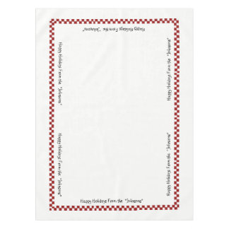 I'm in the Holiday Spirit personalized Table Cloth