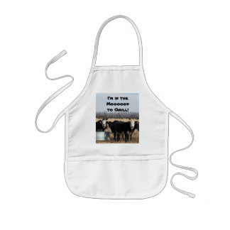 I'm in the Moooood to Grill! Kids Apron