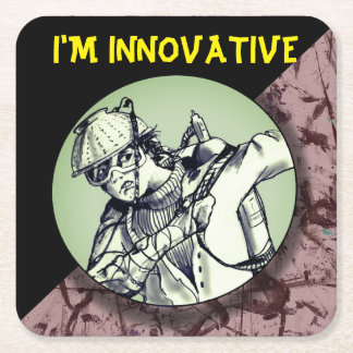 I'M INNOVATIVE COASTER  RED by Slipperywindow
