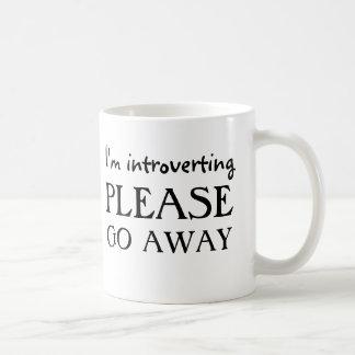 I'm introverting, please go away coffee mug
