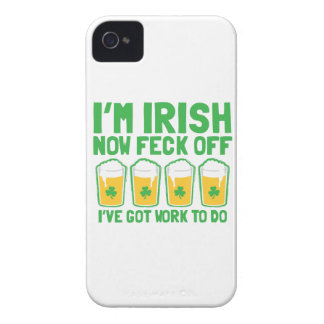 I'm IRISH now feck off I have work to do pint glas iPhone 4 Cover