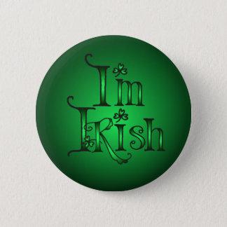 I'M IRISH SHAMROCKS by SHARON SHARPE 2 Inch Round Button