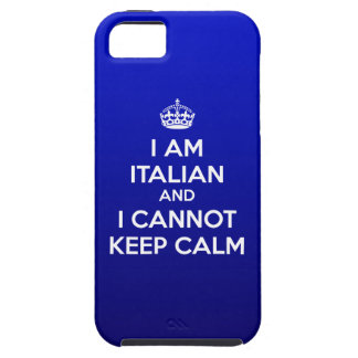 I'm Italian and I cannot keep calm - iPhone 5 Case